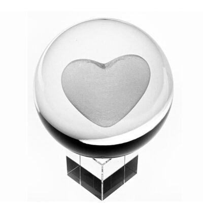 3d hartje in glazen bol | GlazenBollen.NL