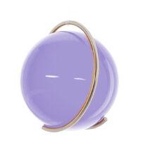 Gekleurde glazen bol AMETHIST in metalen ring DE PURE | GlazenBollen.NL