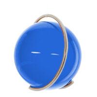Gekleurde glazen bol AQUAMARIJN in metalen ring DE PURE | GlazenBollen.NL