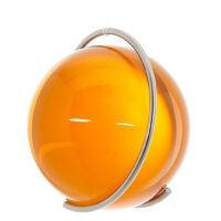 Gekleurde glazen bol GEEL in metalen ring DE PURE | GlazenBollen.NL