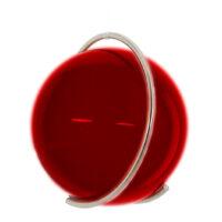 Gekleurde glazen bol ROOD in metalen ring DE PURE | GlazenBollen.NL